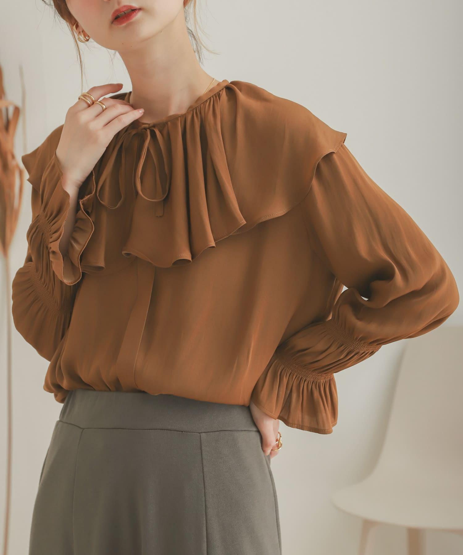 荷葉領襯衫(二件式)