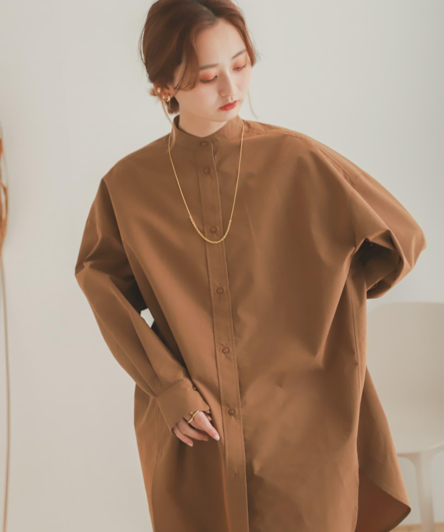 袖口設計長版襯衫