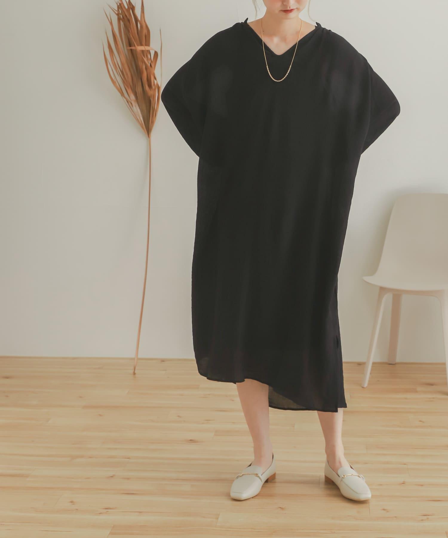 楊柳紗卡夫坦剪裁洋裝